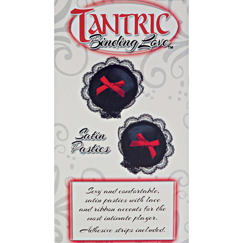 California Exotics Tantric Binding Love Satin Pasties Black - View #3