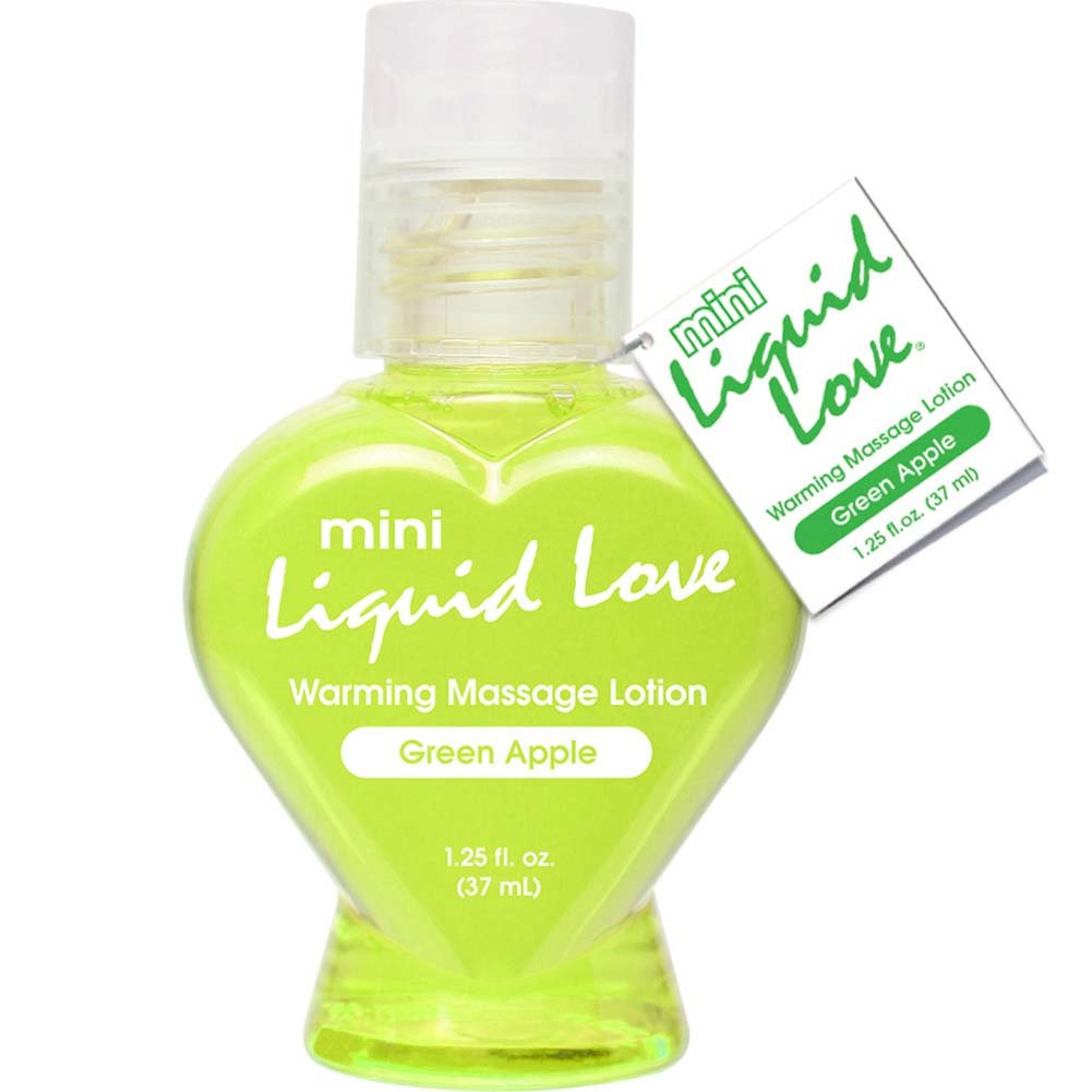 Mini Liquid Love Warming Massage Lotion 1.25 Fl.Oz 37 mL Green Apple - View #1