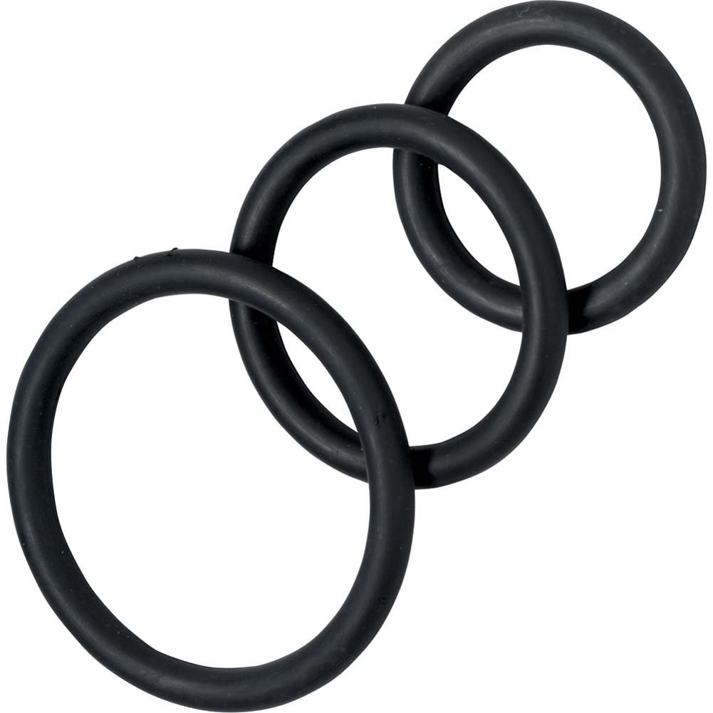 Spartacus 3 Pack Nitrile Cock Rings Black - View #2