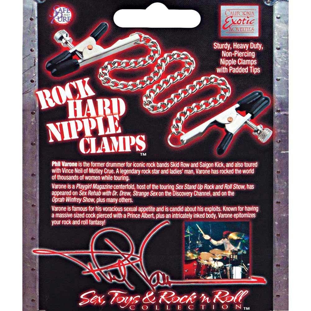 Phil Varone Rock Hard Nipple Clamps Black - View #1