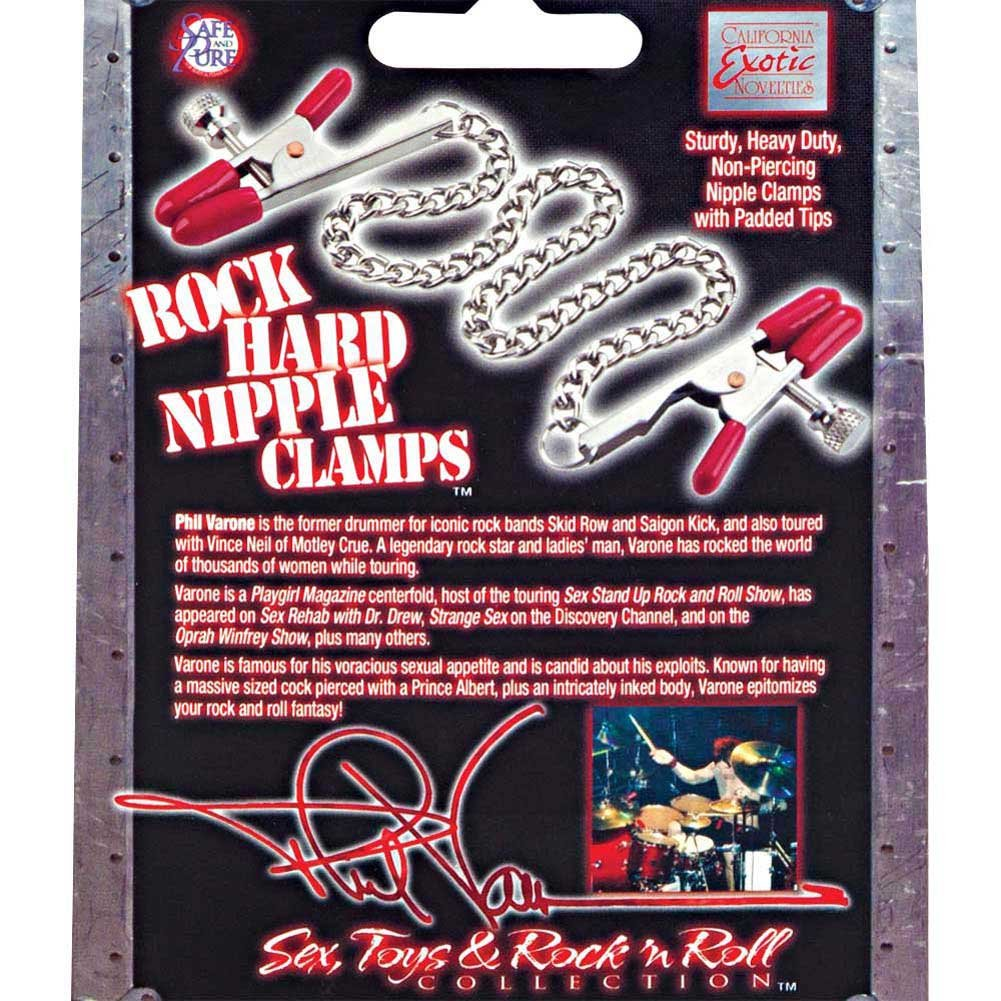 Phil Varone Rock Hard Nipple Clamps Red - View #2