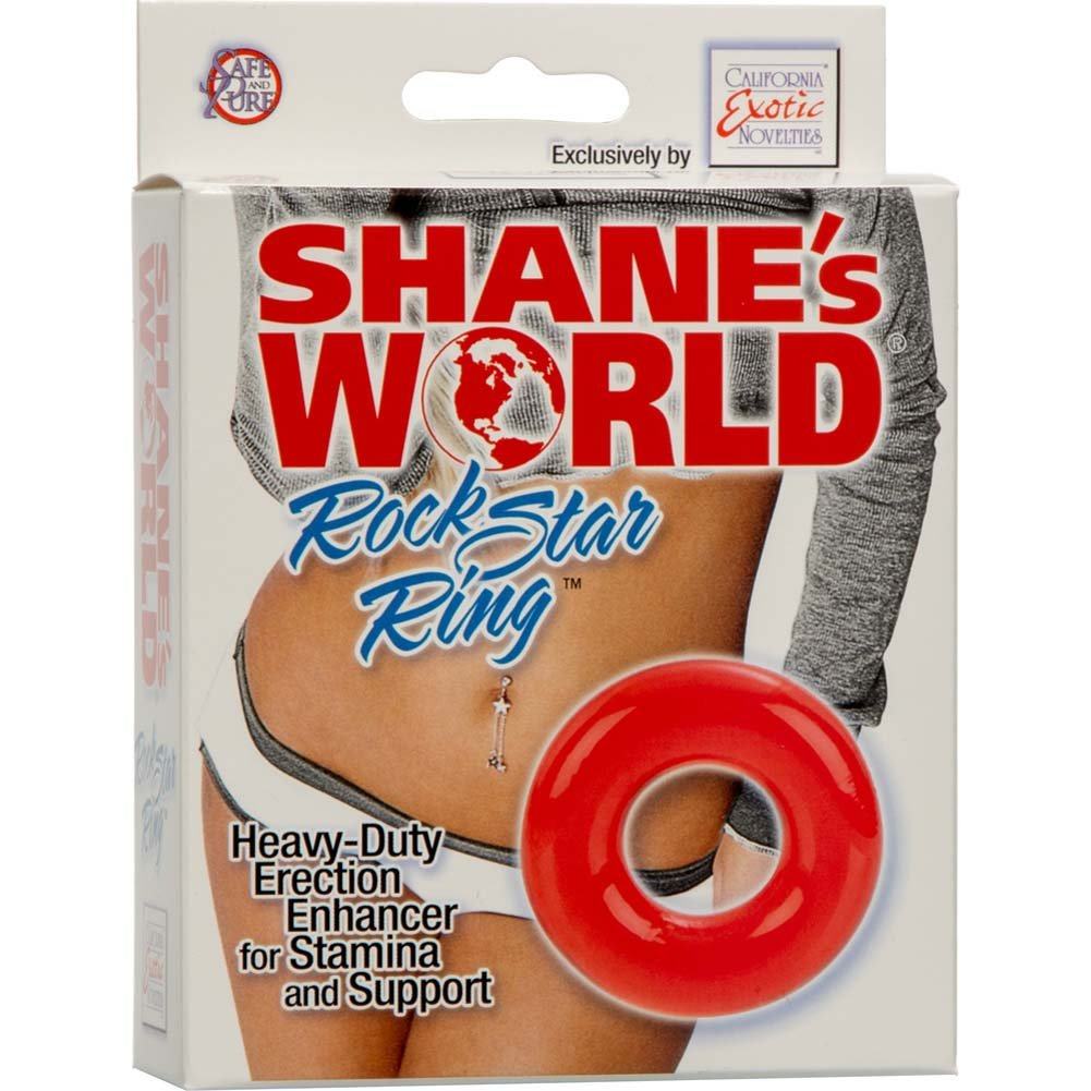 California Exotics ShaneS World Rock Star Ring Red - View #1