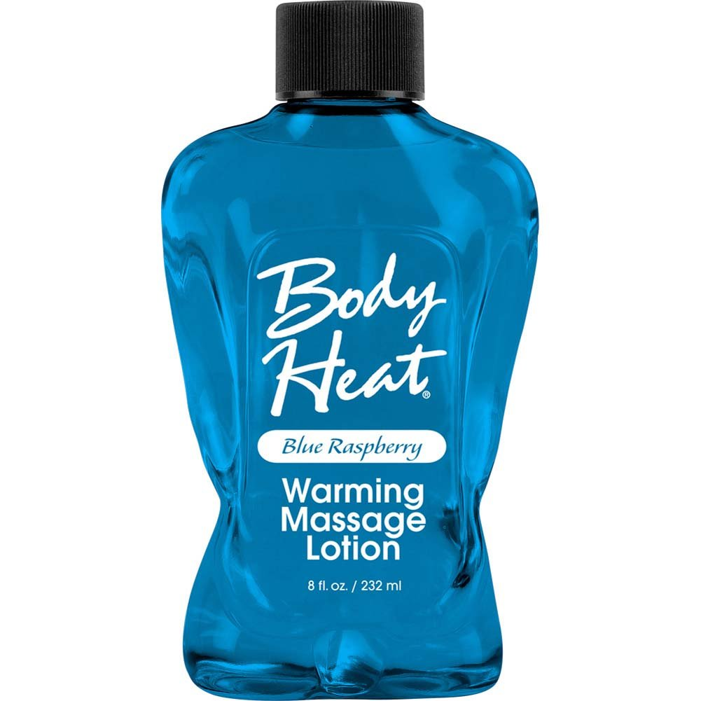 Body Heat Warming Massage Lotion 8 Fl.Oz 236 mL Blue Raspberry - View #1
