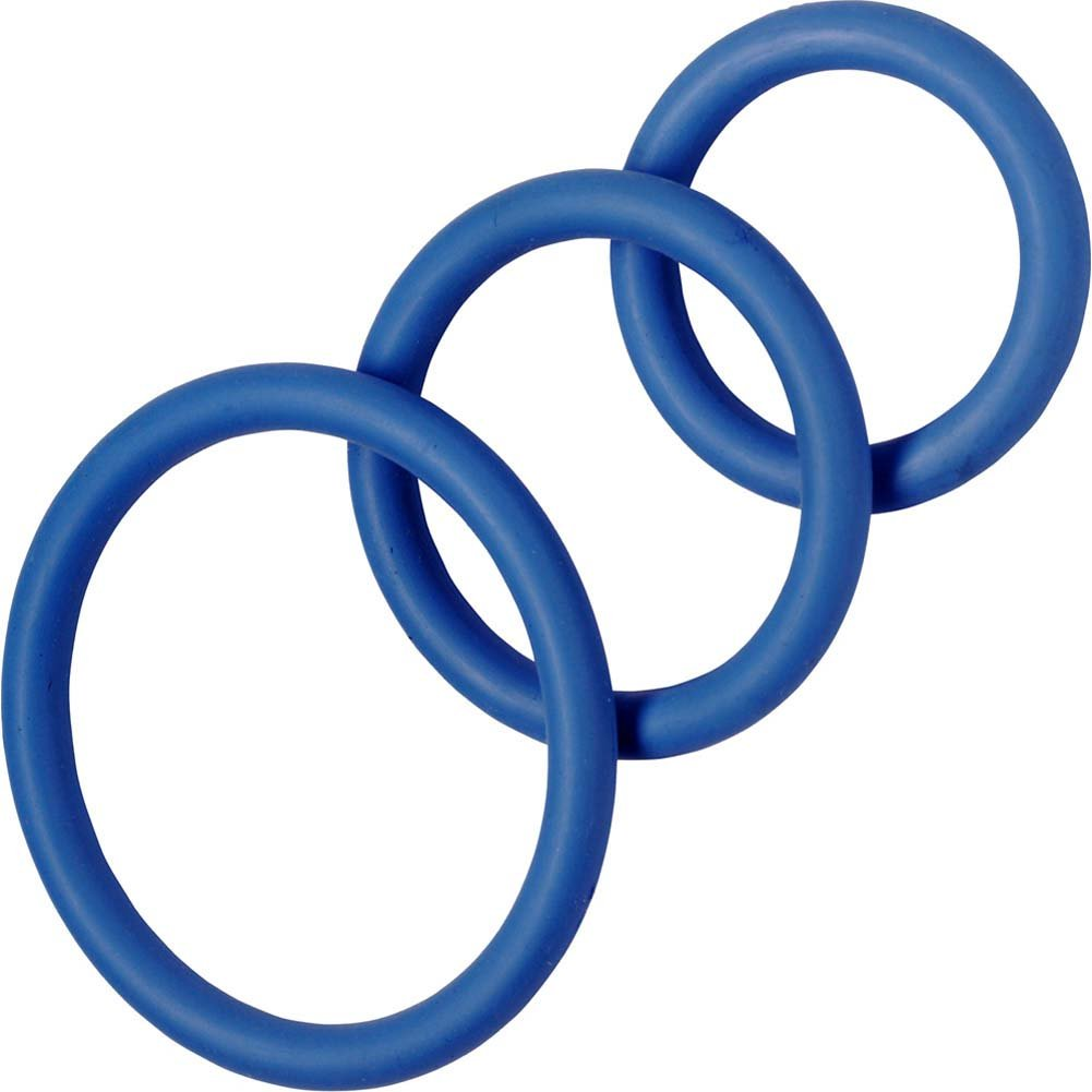 Spartacus 3 Pack Nitrile Cock Rings Blue - View #2