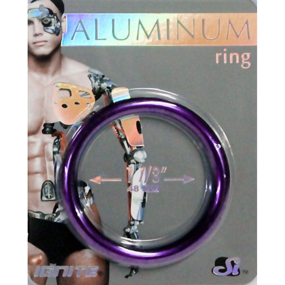 "Ignite Anodized Aluminum Cock Ring 1.875"" Royal Purple - View #1"