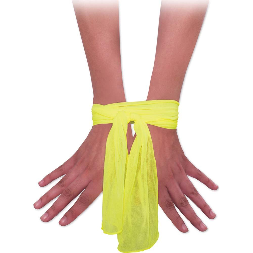 Neon Nylon Love Ties Yellow - View #3