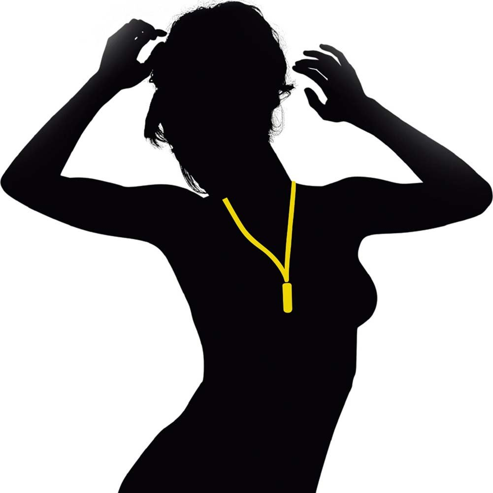 Neon Party Vibe Necklace Yellow - View #2