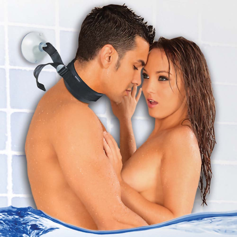 Sex in the Shower Suction Cup Collar Black - View #2