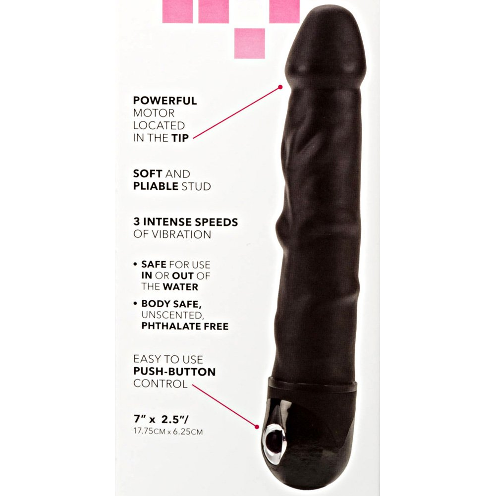 "California Exotics Waterproof Power Stud Rod Vibrator 7"" Black - View #1"
