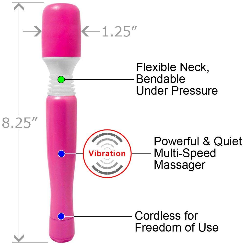 """Mini Wanachi Silicone Vibrating Massager 8.25"""" Pink - View #1"""