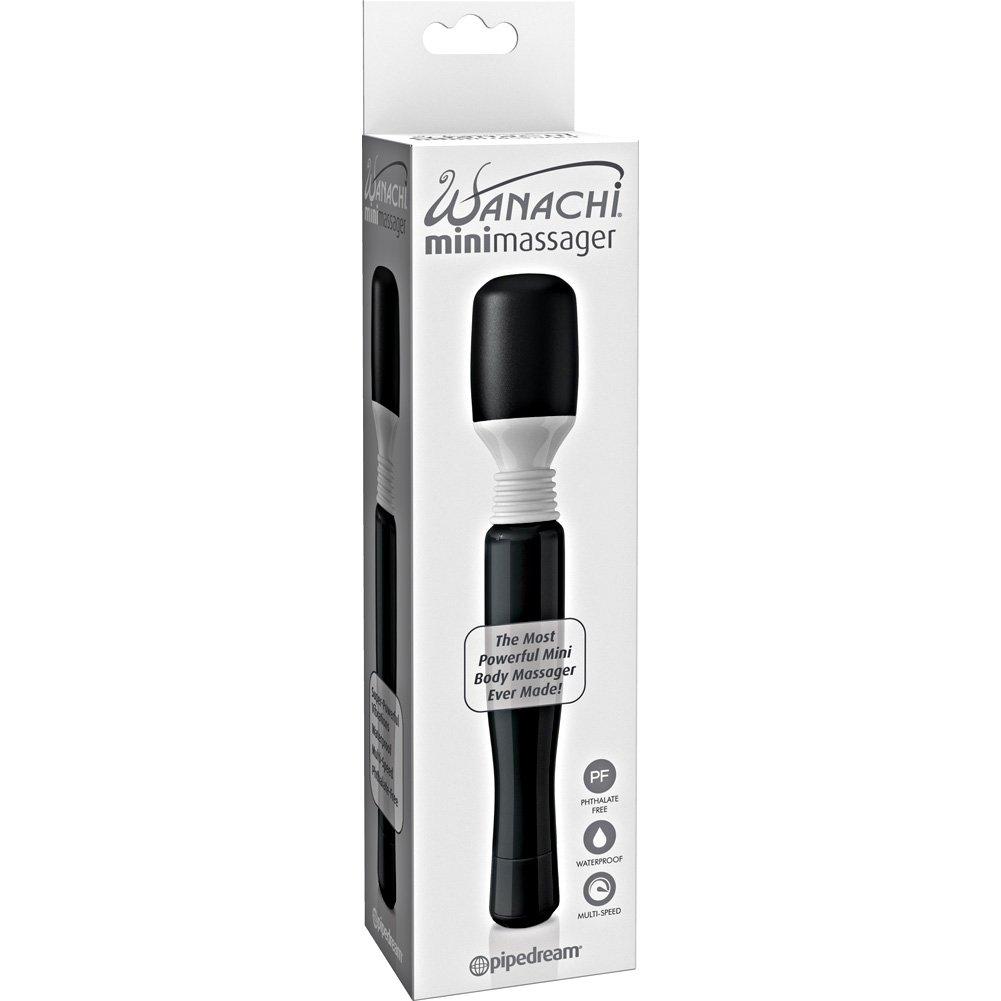 "Mini Wanachi Silicone Vibrating Massager 8.25"" Black - View #4"
