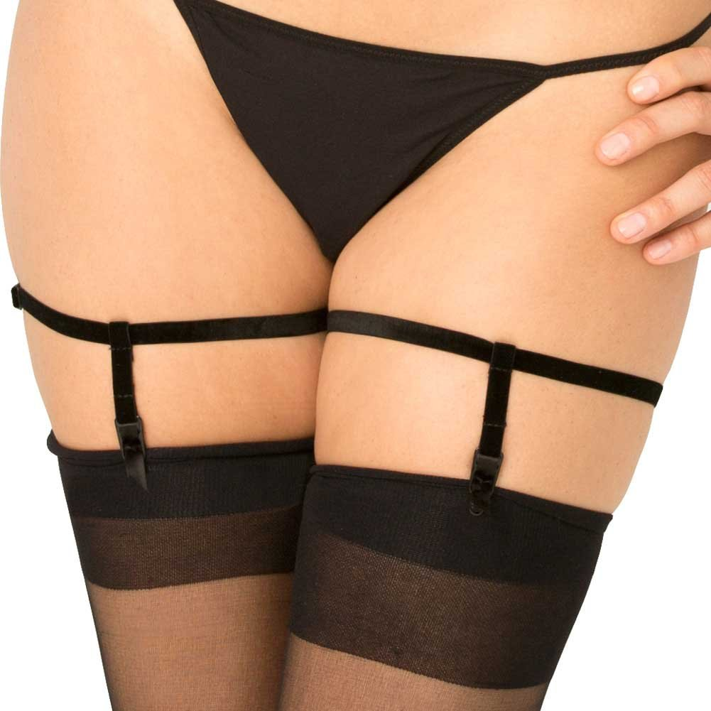 Rene Rofe Simple Sexy Black Garters Small-Medium Black - View #1