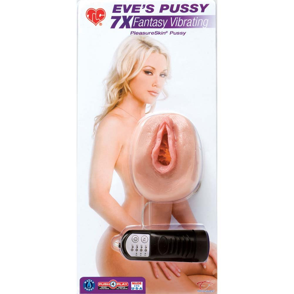 EveS Pussy 7X Fantasy Vibrating Masturbator Natural Flesh - View #1