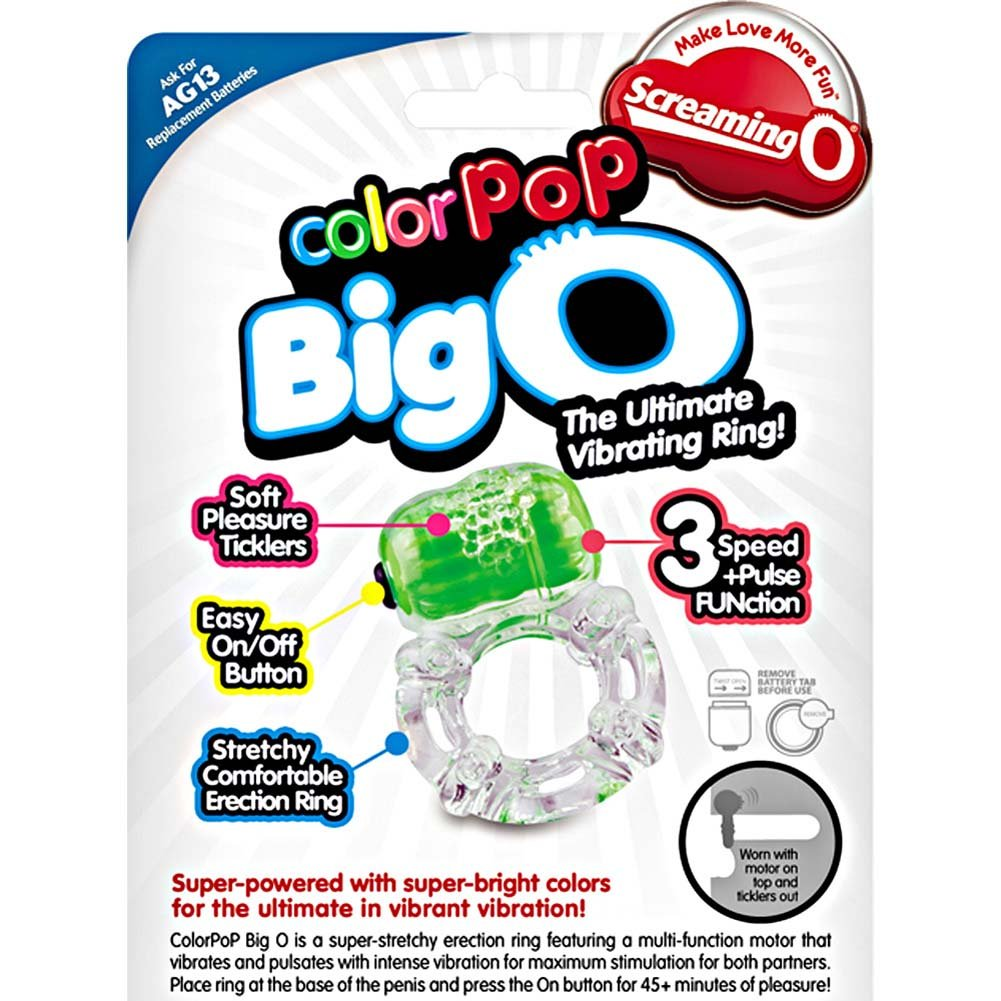 Screaming O ColorPoP Big O Vibrating Ring 6 Count Inner Pack Assorted Colors - View #1
