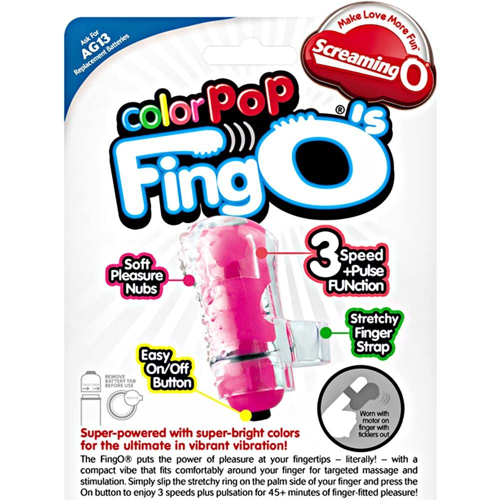 Screaming O ColorPoP FingOS Vibrating Bullet 6 Count Inner Pack Assorted Colors - View #4