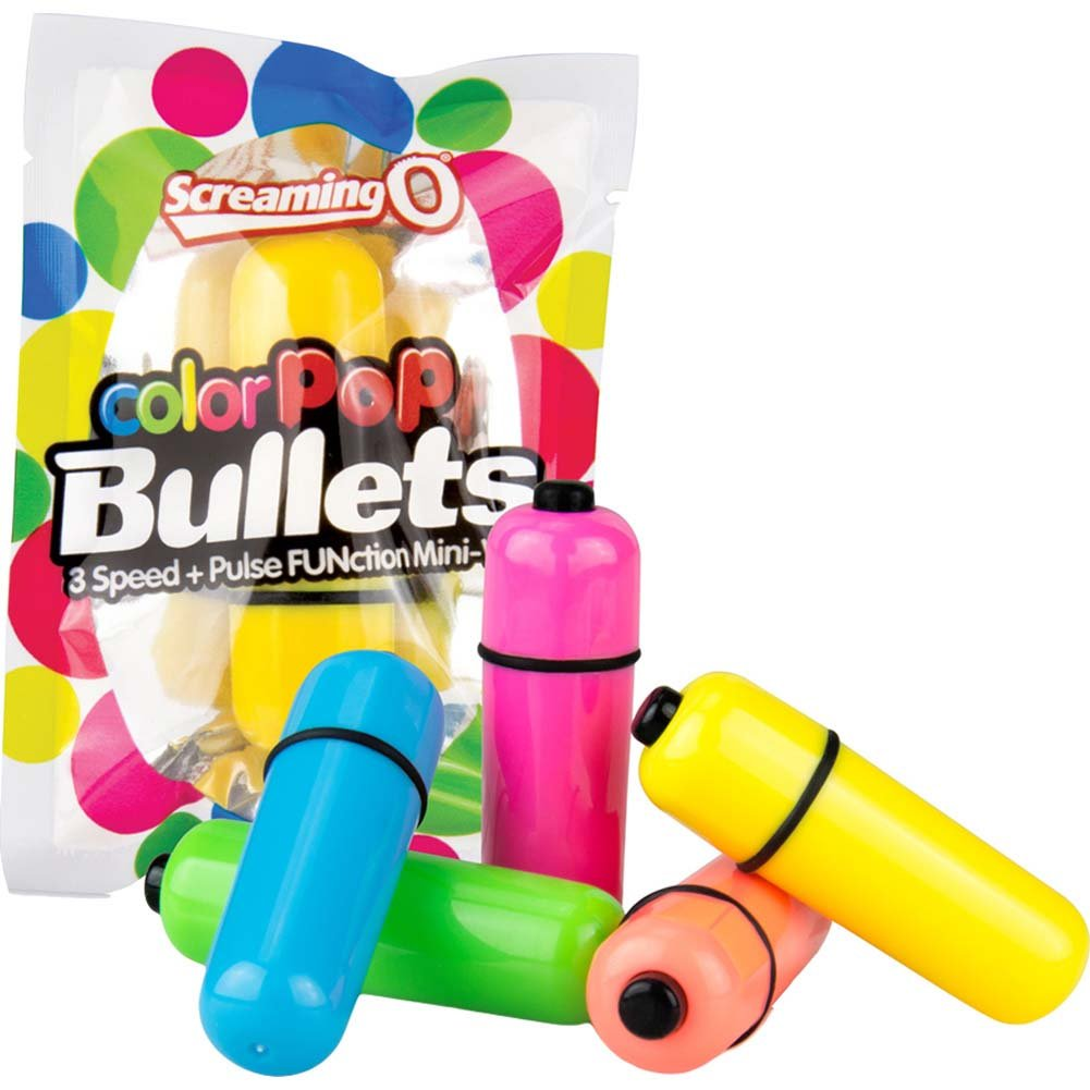 Screaming O ColorPoP Waterproof Vibrating Bullets 40 Count Bowl Assorted Colors - View #4