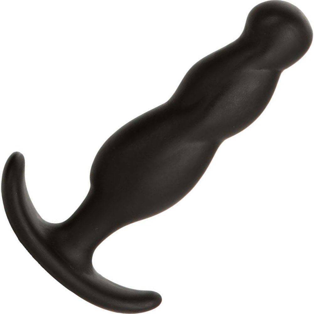 "Mood Naughty 3 Silicone Small Butt Plug 3"" Black - View #2"