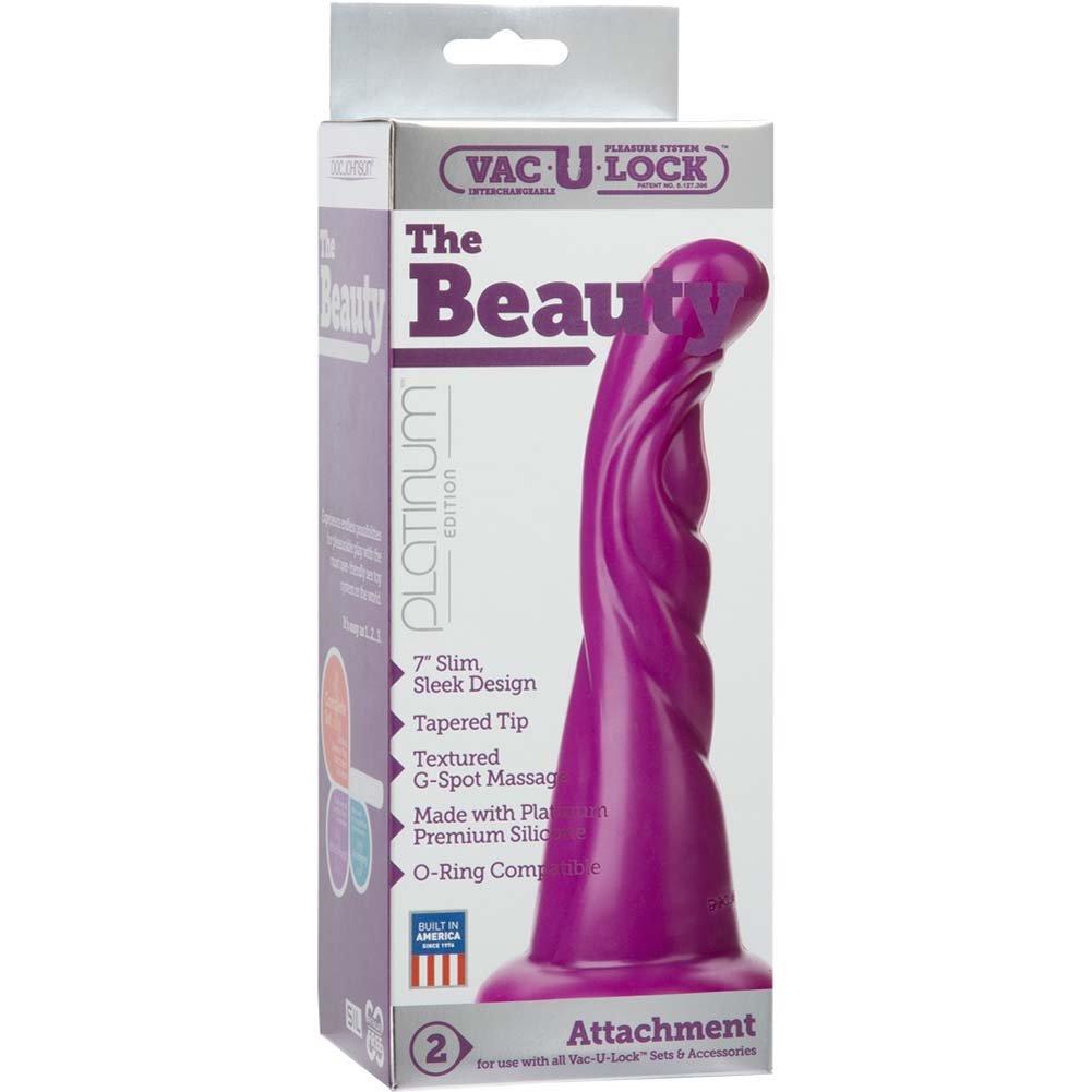 """Vac-U-Lock Platinum Edition Beauty Silicone Attachment 7"""" Purple - View #1"""
