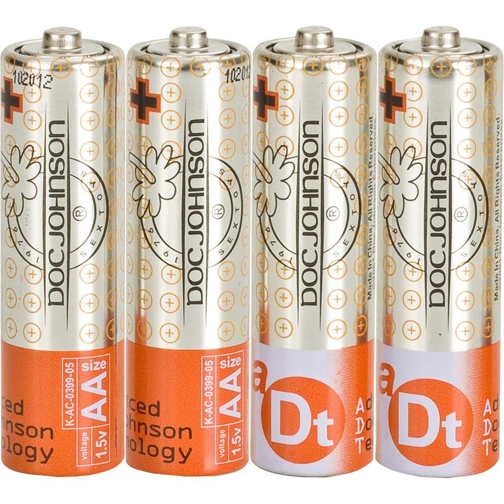 Doc Johnson AA Batteries 4 Pack - View #2