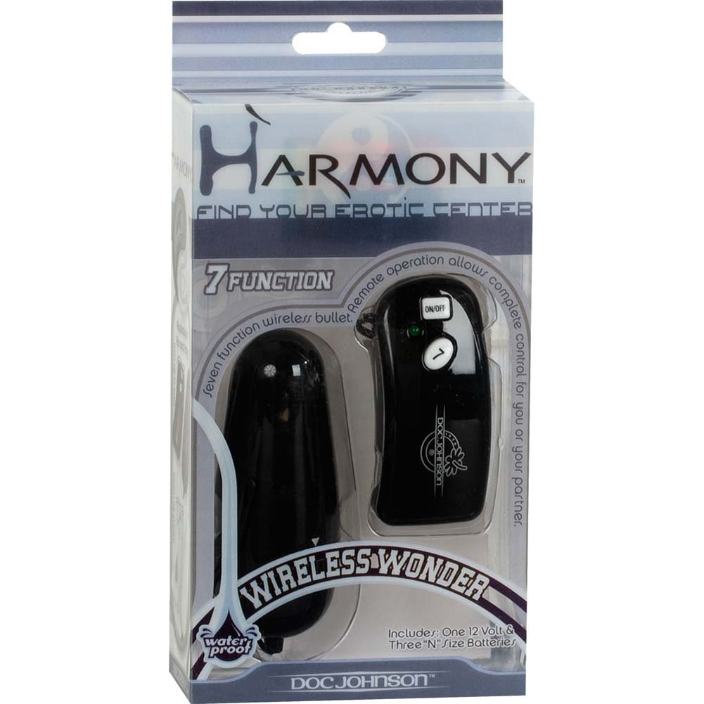 "Harmony Wireless Wonder Bullet Vibrator 3.5"" Black - View #1"