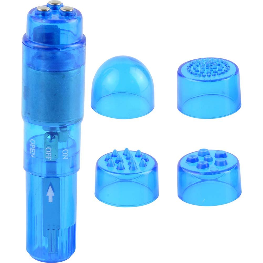 "Mini Mite Personal Waterproof Vibrator 4"" Blue - View #1"
