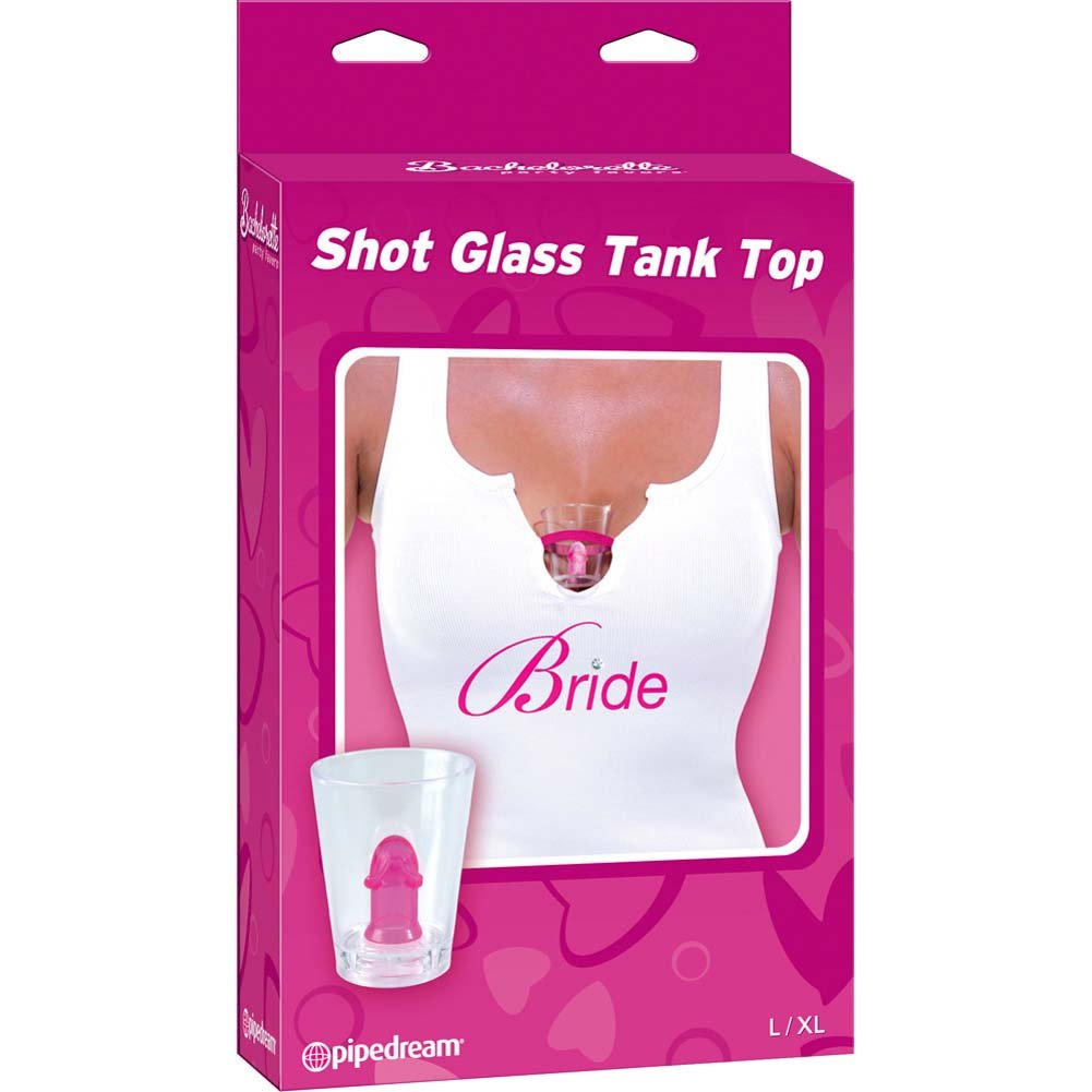 Bachelorette Party Favors Bride Shot Glass Tank Small/Medium - View #1