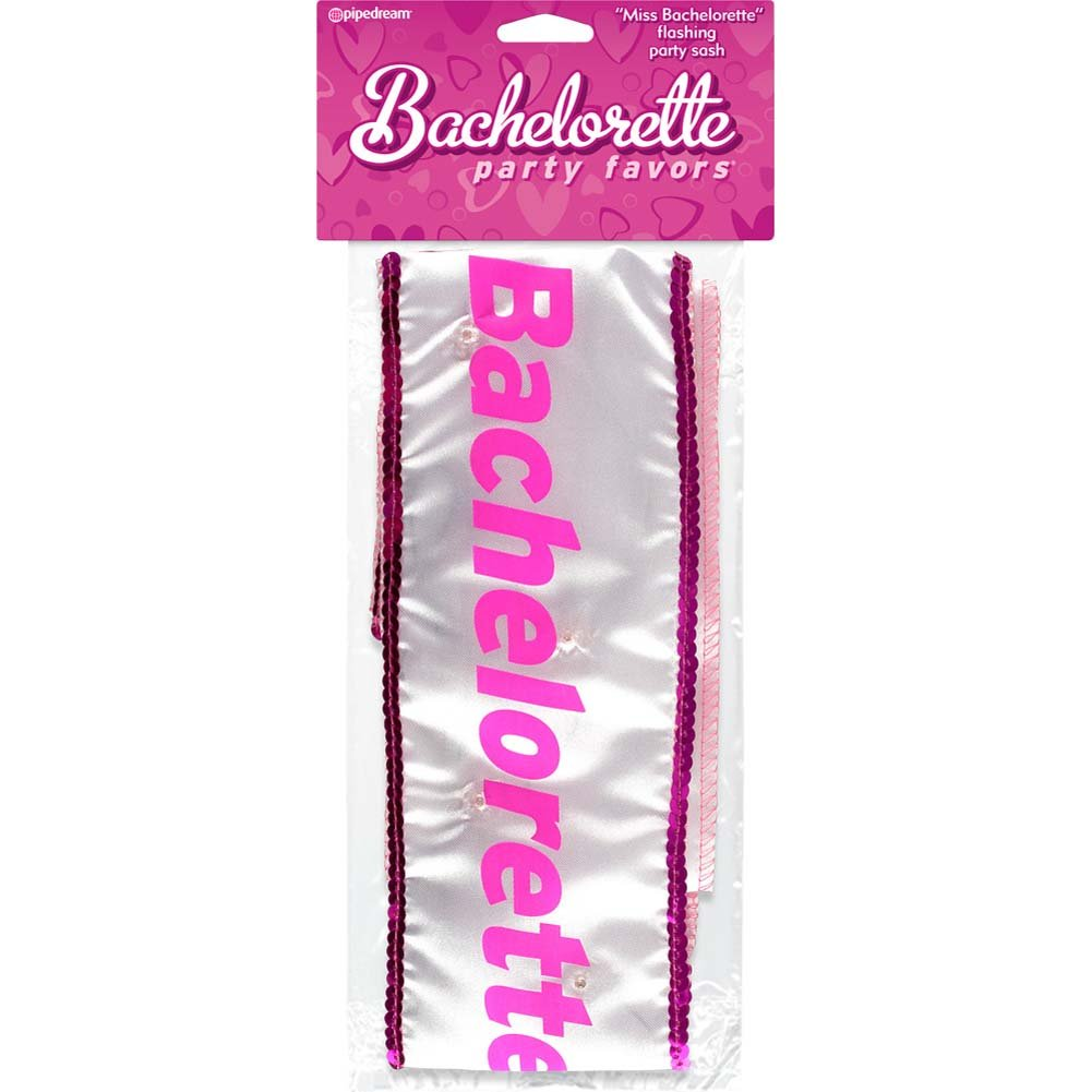Bachelorette Party Favors Miss Bachelorette Flashing Sash - View #1