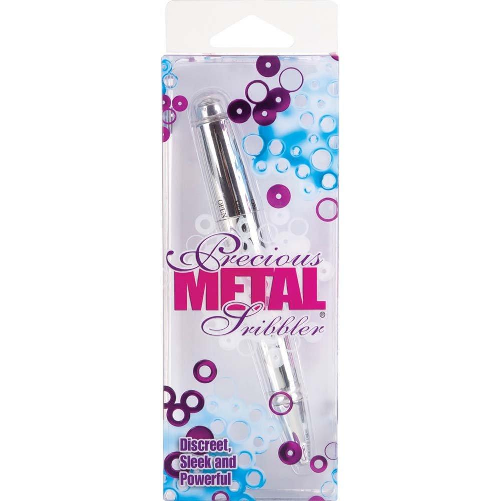 "Precious Metal Scribbler Vibrator 5.75"" Silver - View #1"