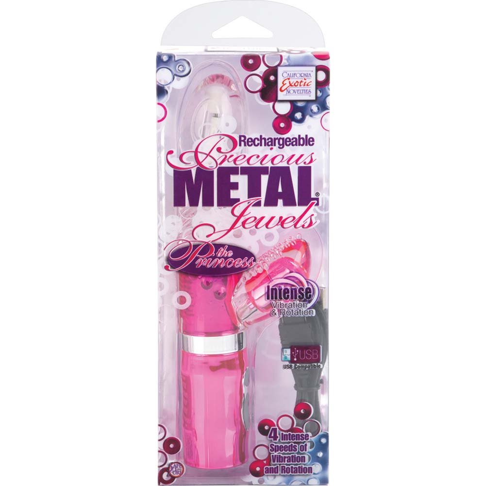 "Rechargeable Precious Metal Jewels the Princess Vibrator 8.25"" Pink - View #4"