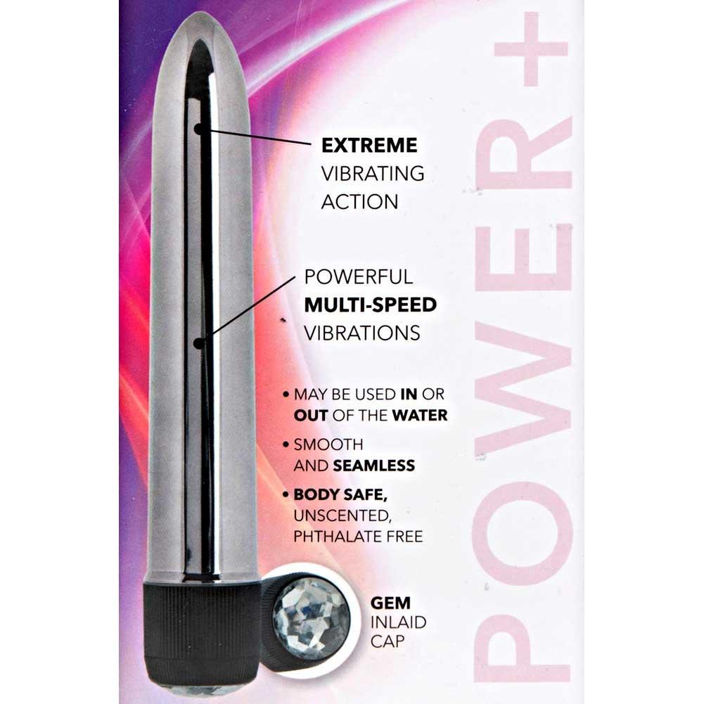 "California Exotics Precious Metal Gems Vibrator 6.75"" Silver - View #1"
