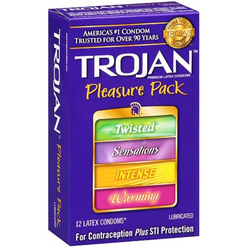 Trojan Pleasure Pack Lubricated Condoms 12 Pack - View #2