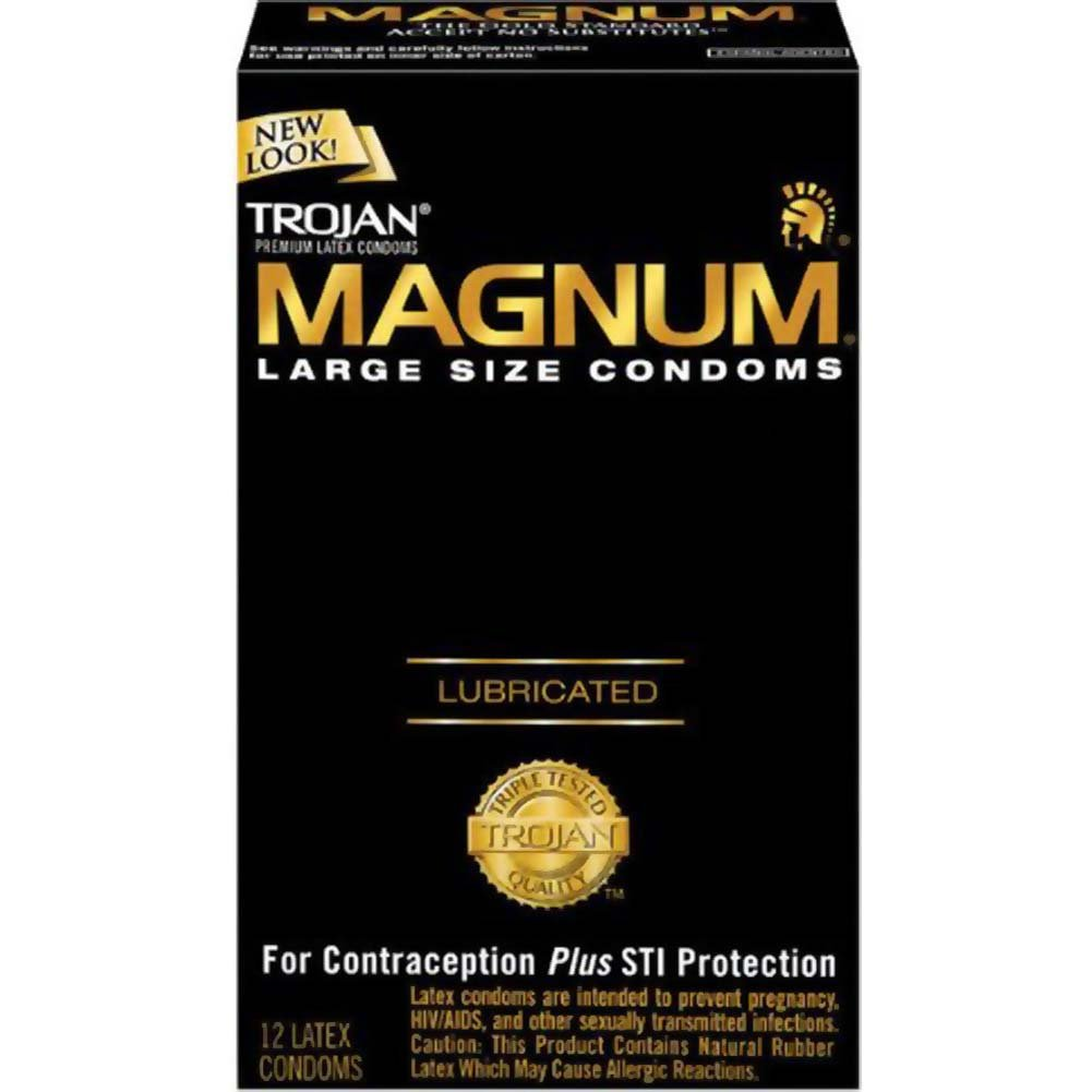Trojan Magnum Large Size Lubricated Condoms 12 Pack - View #2