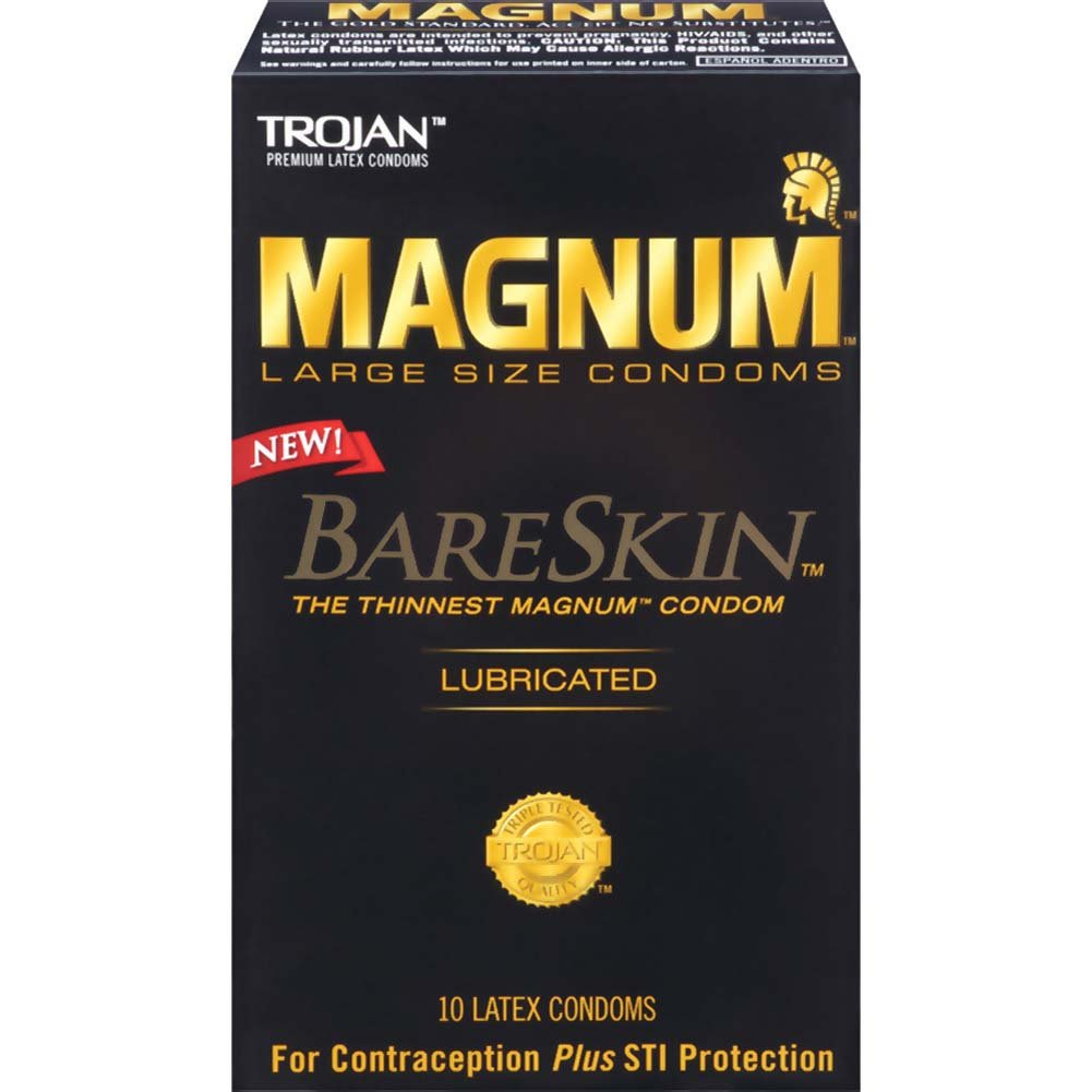 Trojan Magnum BareSkin Large Size Lubricated Condoms 10 Pack - View #1