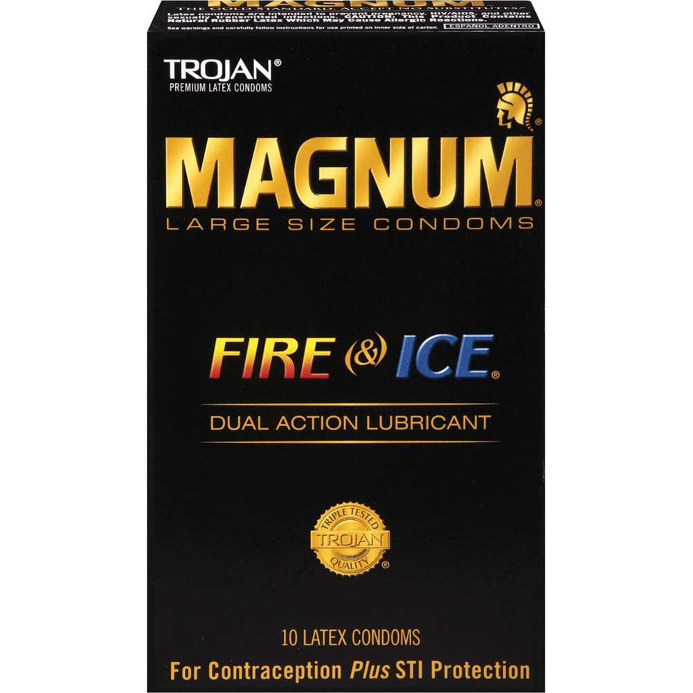 Trojan Magnum Fire Ice Lubricated Latex Condoms 10 Pack - View #1