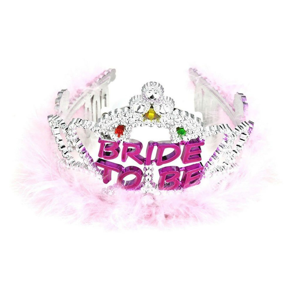 Bachelorette Party Flashing Bride to Be Tiara - View #1