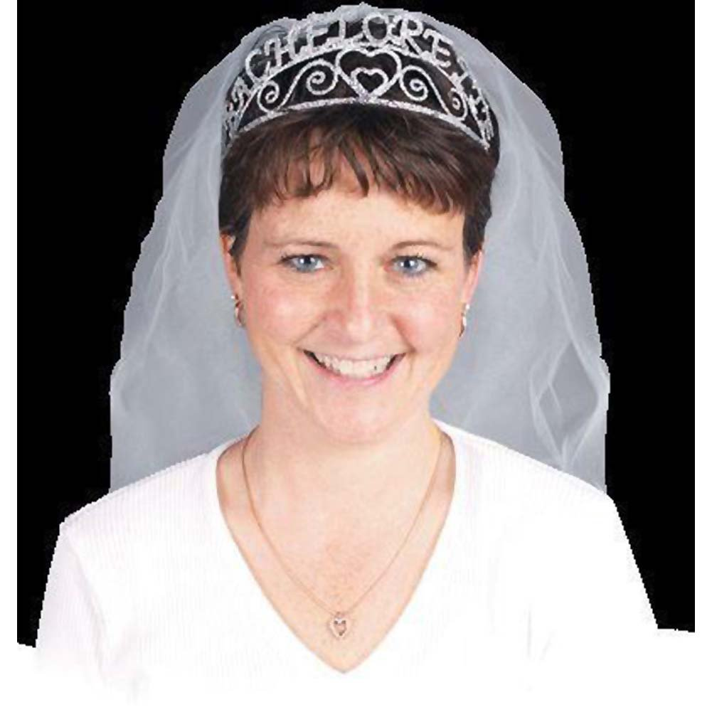 Bachelorette Party Sparkle Tiara/Veil - View #3