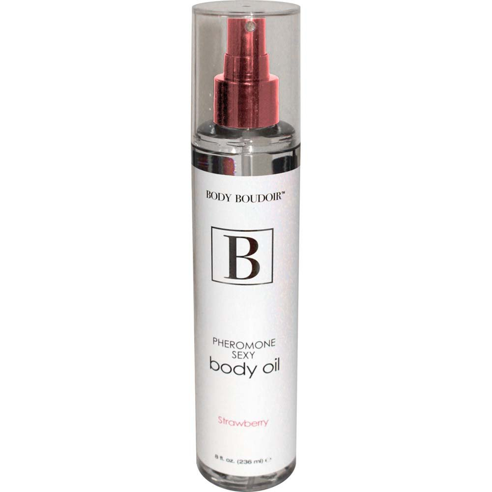 Body Boudoir Pheromone Sexy Body Oil for Sensual Massage 8 Fl.Oz 236 mL Strawberry - View #1