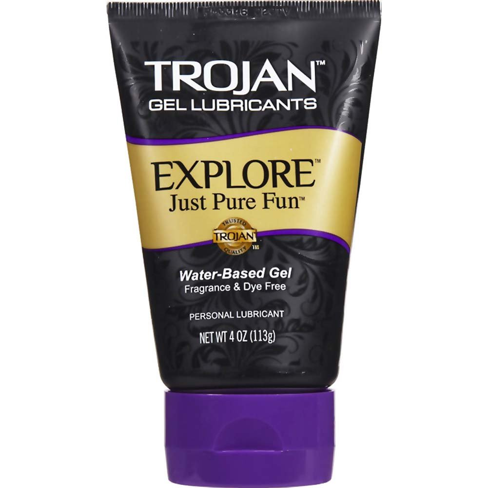 Trojan Explore Water-Based Lubricant Gel 4 Oz. - View #1
