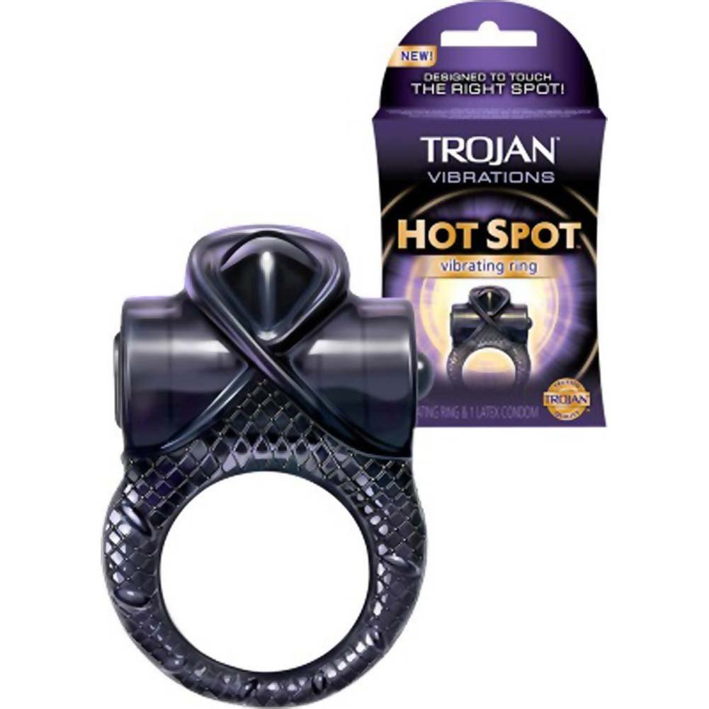 Trojan Hot Spot Vibrating Ring with Condom - View #2