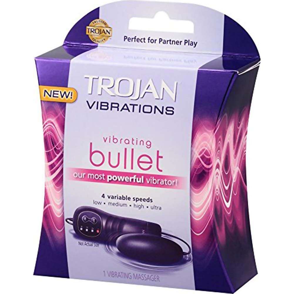 Trojan Vibrations 4 Speeds Vibrating Bullet Purple - View #2