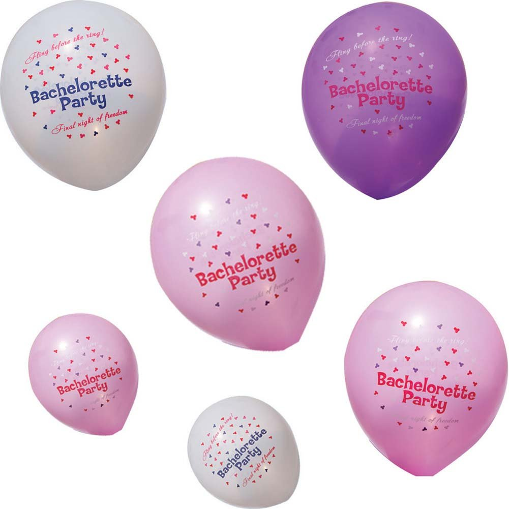 Bachelorette Party Latex Ballons 24 Pieces Assorted Colors - View #1