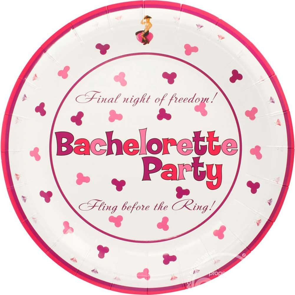 """Bachelorette Party 10"""" Plates 10 Pieces - View #2"""