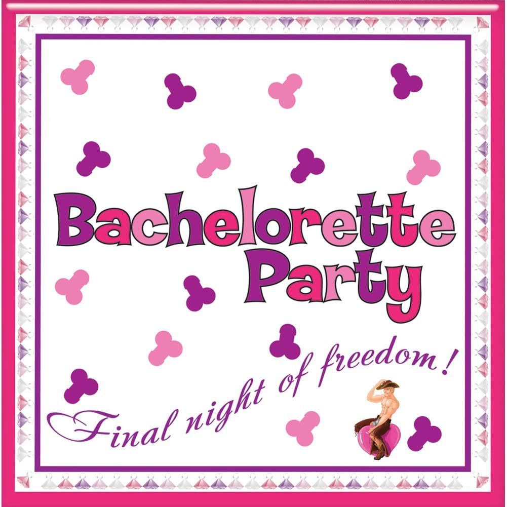 Bachelorette Party Napkins with Trivia Game 10 Pcs Pack - View #1