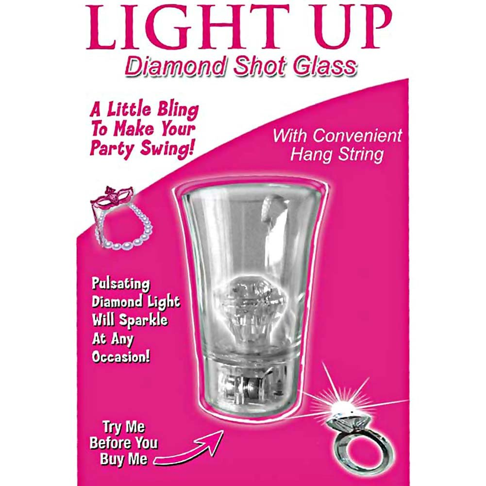 Light Up Diamond Shot Glass Clear - View #1