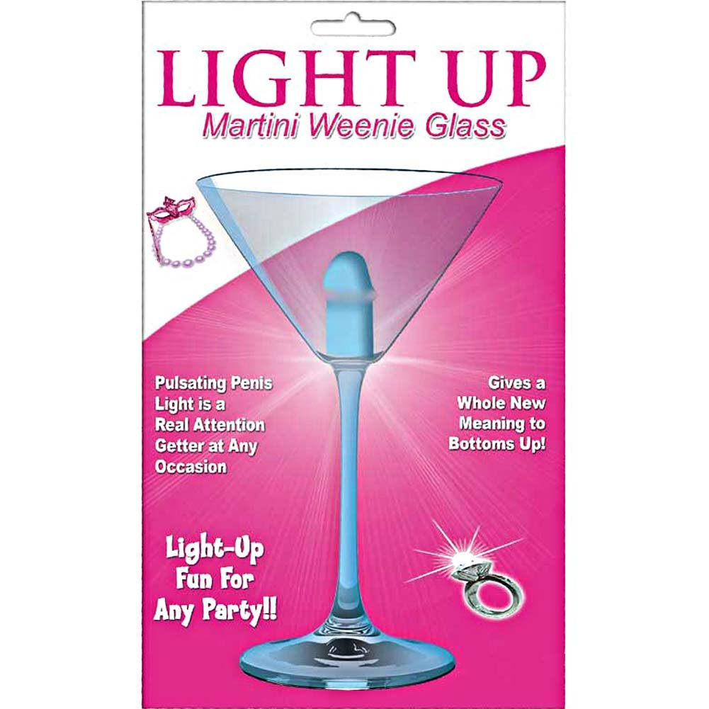 Light Up Martini Weenie Glass Blue - View #1