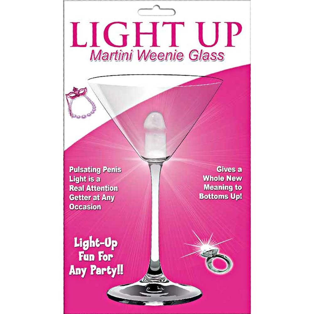 Light Up Martini Weenie Glass Clear - View #1