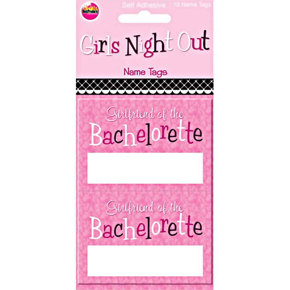 Girls Night Out Tags 10 Pieces - View #1