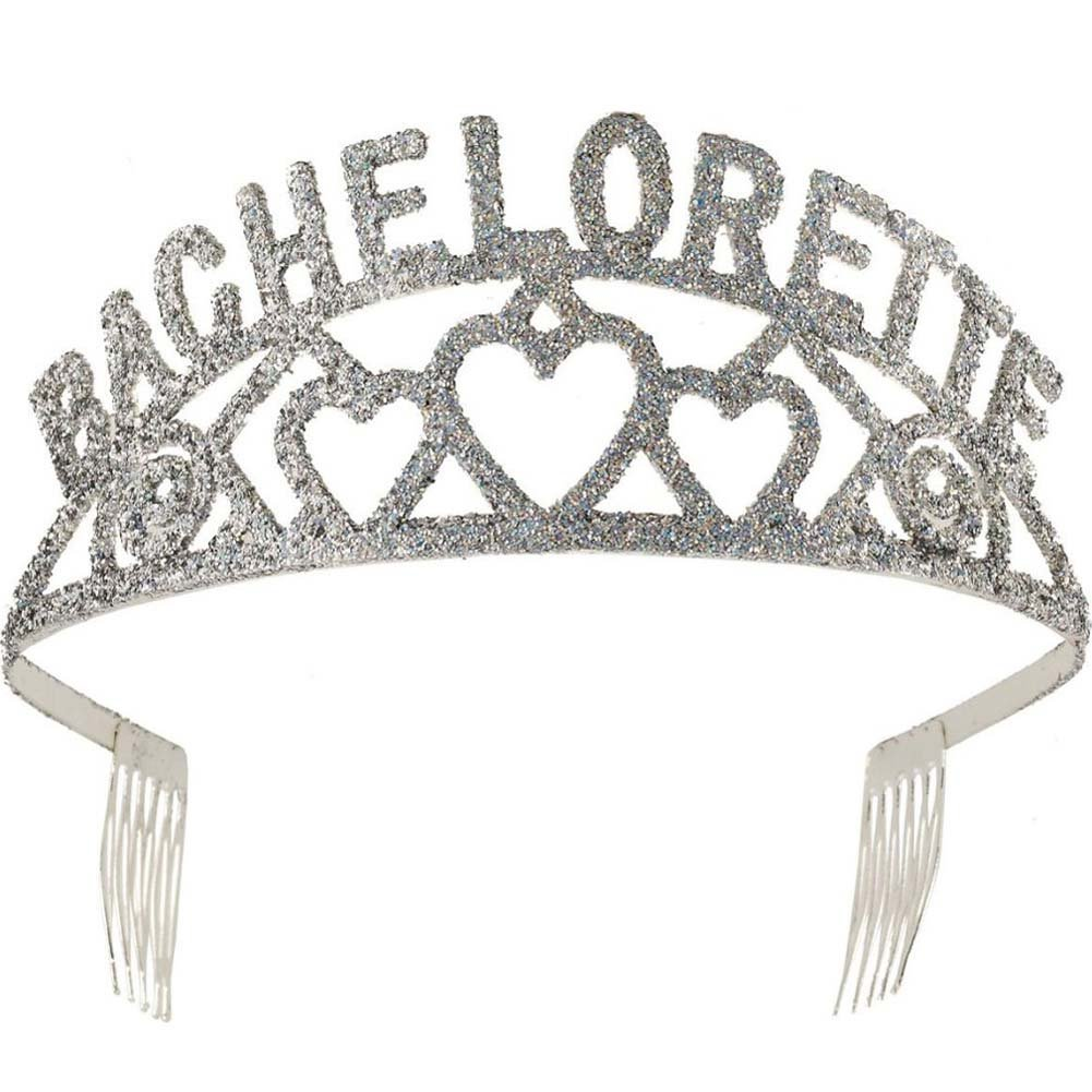 Bachelorette Party Brides Glitter Tiara - View #1