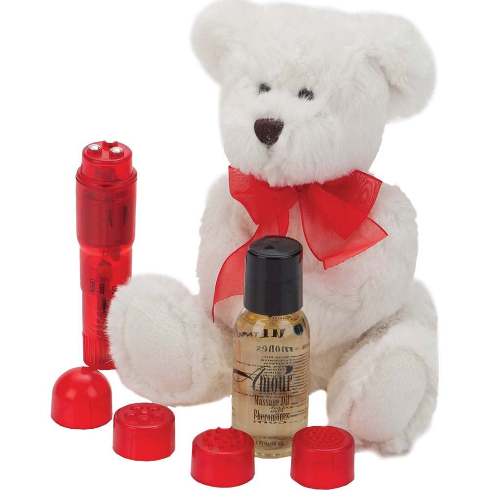 California Exotics Amour Be Mine Cuddle Massage Kit Red - View #2