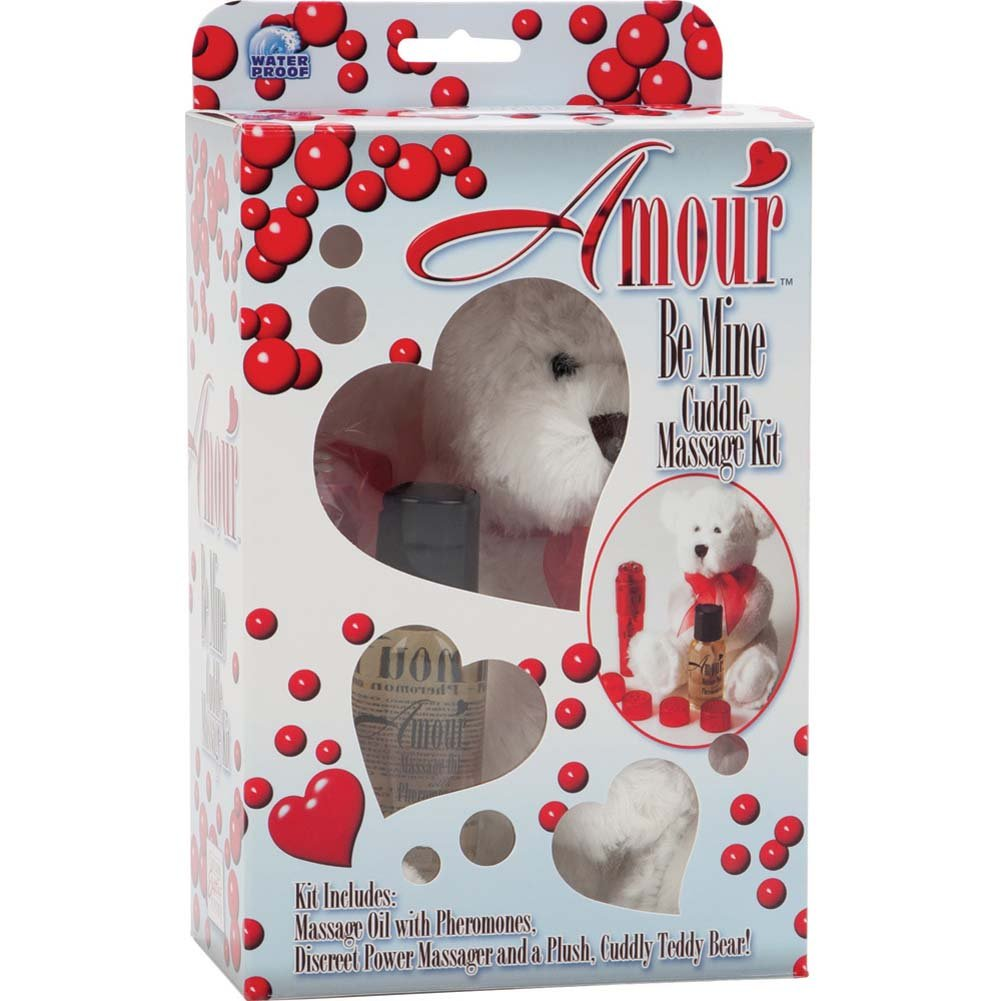 California Exotics Amour Be Mine Cuddle Massage Kit Red - View #4